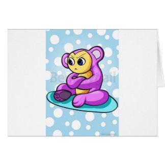 Mushu el pequeño monstruo hambriento tarjeta de felicitación