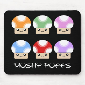 Mushy Puffs Six Pack Kawaii Mushroom Mouse Pad
