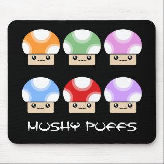 Mushy Puffs Six Pack Kawaii Mushroom Mouse Pad