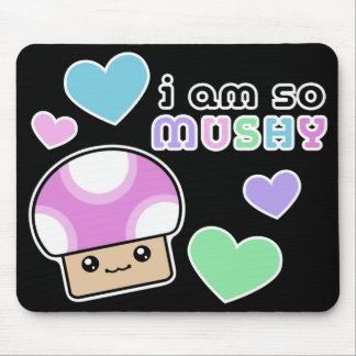 Mushy Puffs So Mushy Kawaii Mushroom Mouse Pad