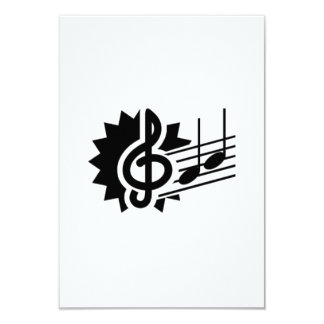 music03 BLACK WHITE MUSIC NOTES SONGS SONGWRITING Personalized Invitation