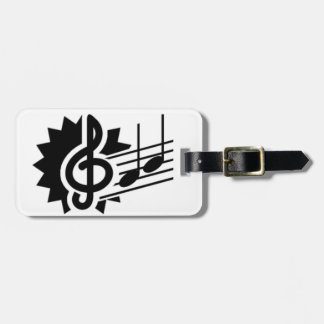 music03 BLACK WHITE MUSIC NOTES SONGS SONGWRITING Bag Tags