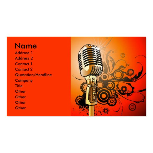 music1 [Converted], Name, Address 1, Address 2,... Business Card Templates