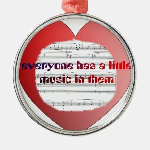 music2 adorno navideño redondo de metal
