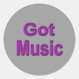 Music3 conseguido pegatina redonda