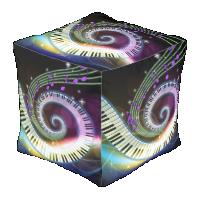 Music 1 cube pouf