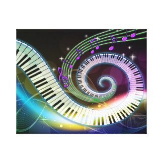 Music 1 Wrapped Canvas Canvas Print