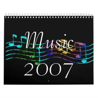 Music 2007 wall calendars