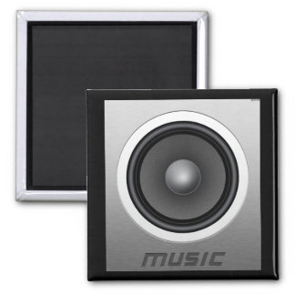 Music 2 Inch Square Magnet
