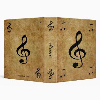 Music 3 Ring Binder