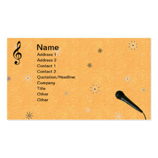 Music 5 Double-Sided standard business cards (Pack of 100)
