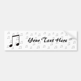Music 8th Eighth Notes Bumper Sticker