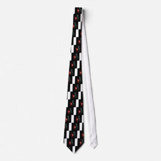 Music abstract art neck tie