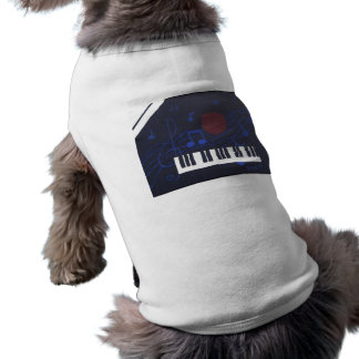 Music Abstract - Blue Notes Dog Clothes