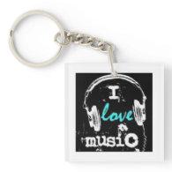music acrylic keychains