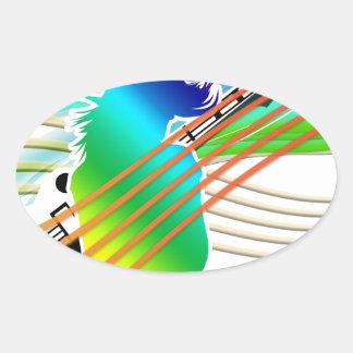 Music Addicted Oval Sticker