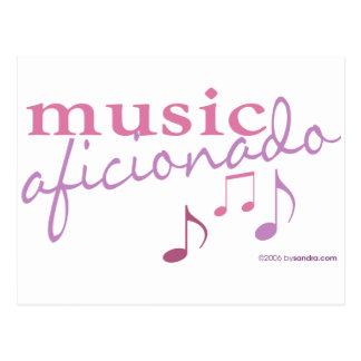 Music Aficionado Postcard