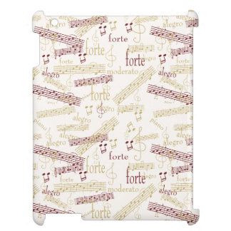 Music Aficionado Typography Pattern Cover For The iPad