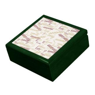 Music Aficionado Typography Pattern Trinket Boxes