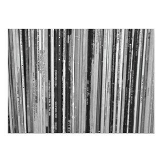 "Music Albums/LP's  Invitation 5"" X 7"" Invitation Card"