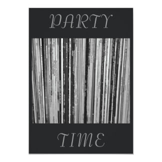 """Music Albums/LP's  Party Time Invitation 5"""" X 7"""" Invitation Card"""