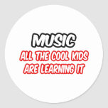 Music...All The Cool Kids Are Learning It Stickers