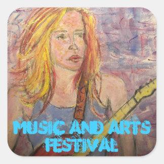 Music and Arts Festival Square Sticker