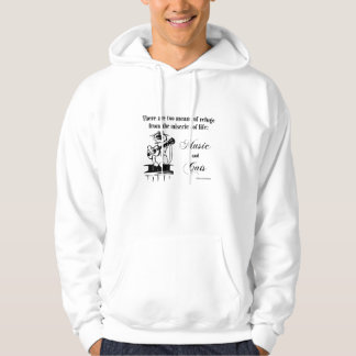 Music and Cats 2 - Schweitzer quote Hoodie