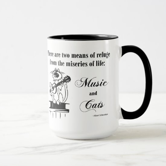 Music and Cats 2 - Schweitzer quote Mug
