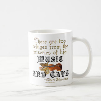 Music and Cats Classic White Coffee Mug