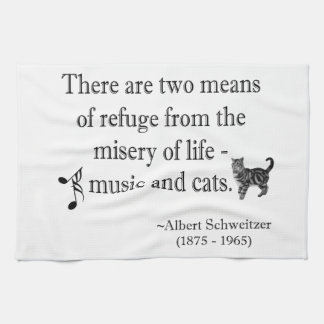 Music and Cats Quotation Kitchen Towel