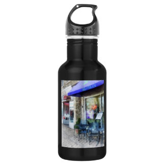Music And Coffee Cafe Water Bottle