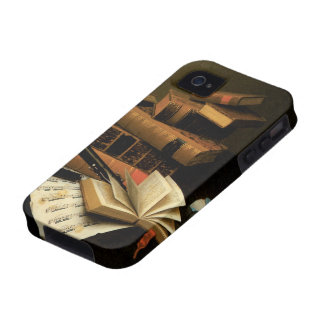 Music and Literature by Harnett, Vintage Realism Vibe iPhone 4 Cover