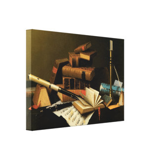 Music and Literature by William Harnett Canvas Print