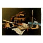 Music and Literature by William Harnett, Fine Art Card
