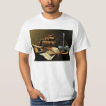 Music and Literature by William Harnett, Fine Art T-Shirt