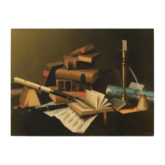 Music and Literature by William Harnett Wood Wall Art