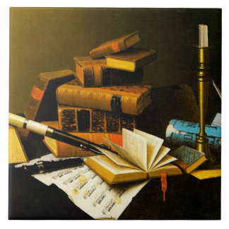 Music and Literature Large Square Tile