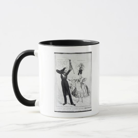 Music and Love or Two Rival Performers Mug