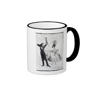 Music and Love or Two Rival Performers Ringer Coffee Mug