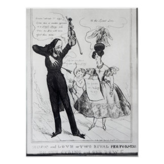 Music and Love or Two Rival Performers Print