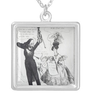 Music and Love or Two Rival Performers Silver Plated Necklace
