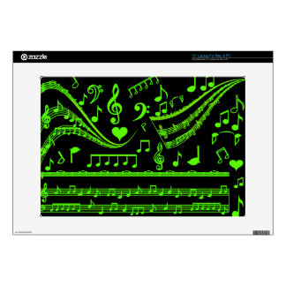 "Music and me,In Green_ 15"" Laptop Decal"