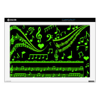 "Music and me,In Green_ Decals For 17"" Laptops"