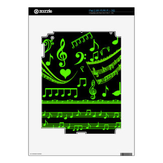 Music and me,In Green_ Decal For The iPad 2