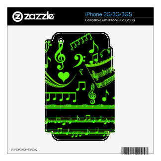 Music and me,In Green_ iPhone 3G Skins