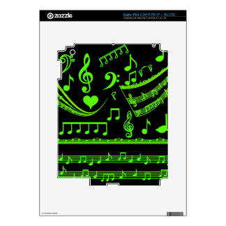 Music and me,In Green_ Skins For iPad 3