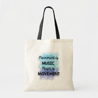 Music and Movement Watercolor Print Tote Bag