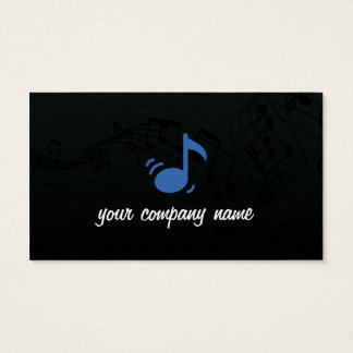 Music and musician Business card