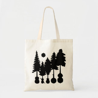 Music and Nature Themed Tote Bag